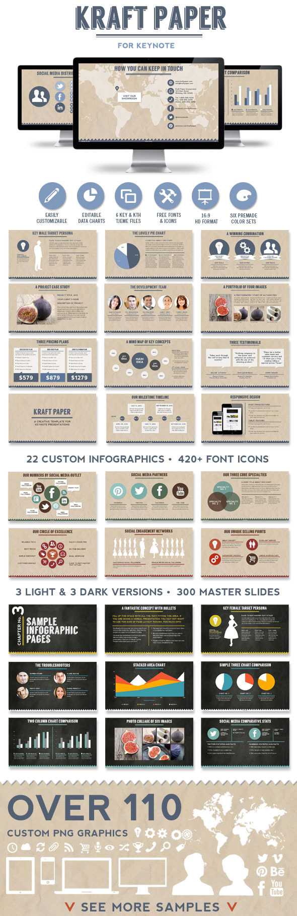Kraft Paper Keynote Presentation Template - Creative Keynote Templates