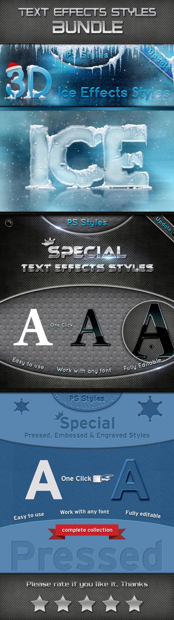 Text Effects Styles Bundle - Styles Photoshop