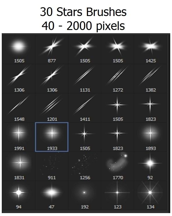 Stars, Sparkle - 30 Brushes - Miscellaneous Brushes