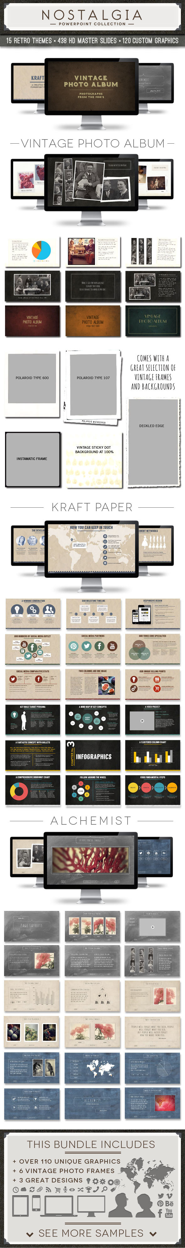 nostalgia collection powerpoint template bundle83munkis, Modern powerpoint