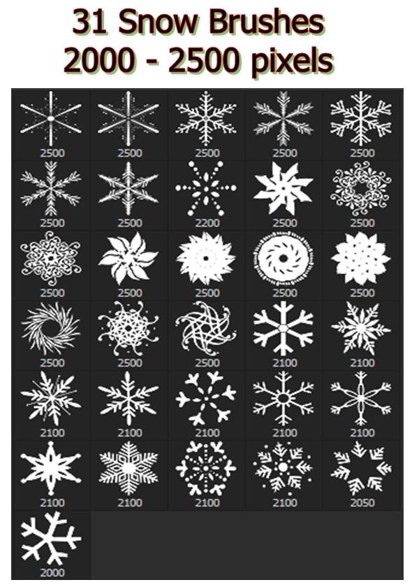 Snowflakes Vol.I - 31 Brushes Set - Miscellaneous Brushes