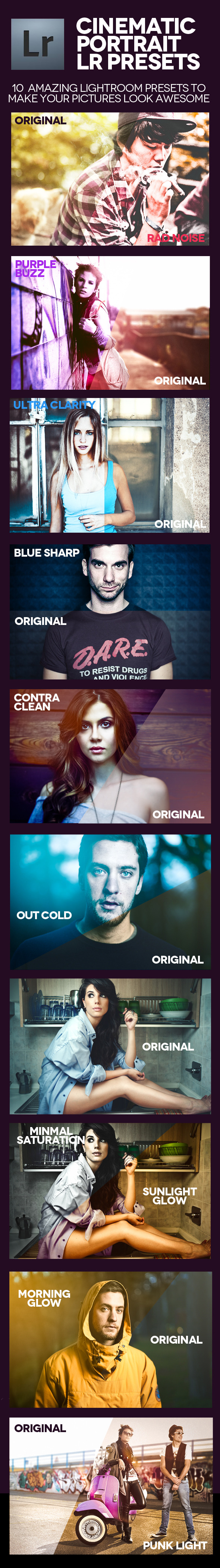 Cinematic Portrait Presets - Cinematic Lightroom Presets