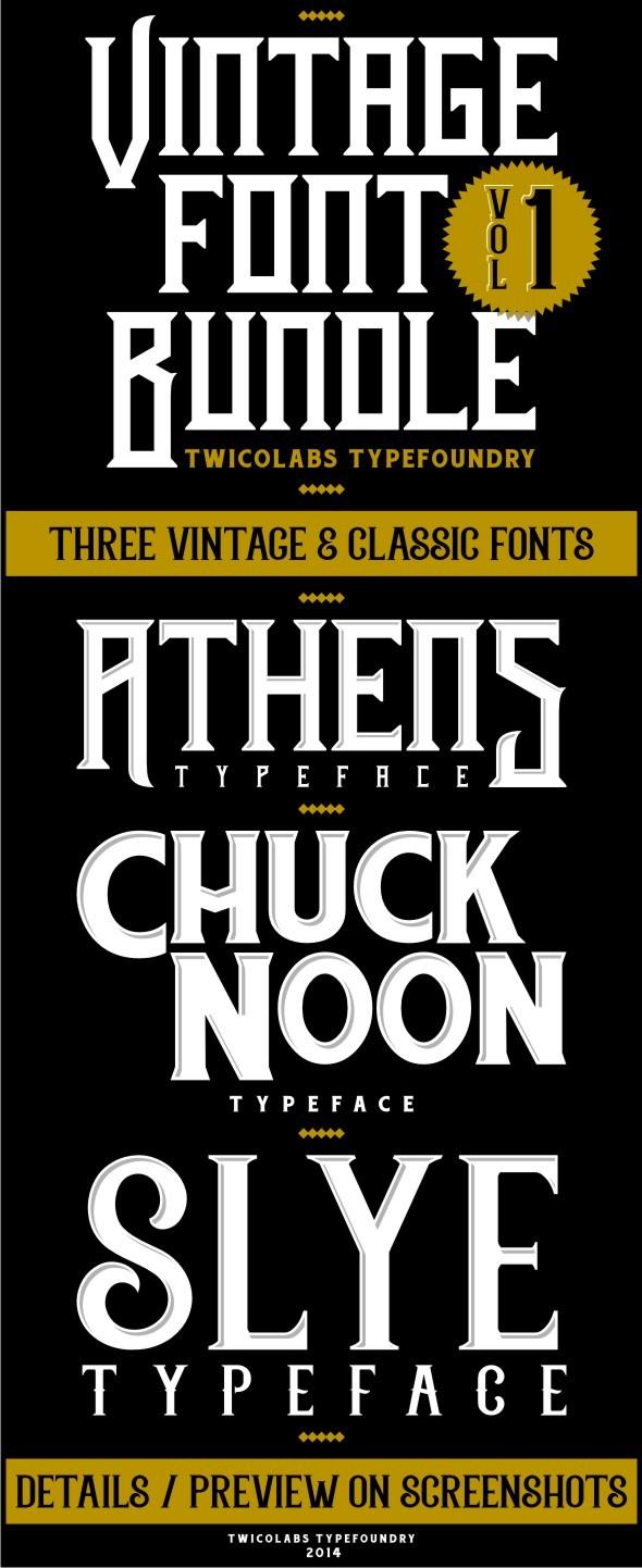 Vintage Font Bundles 1 - Gothic Decorative