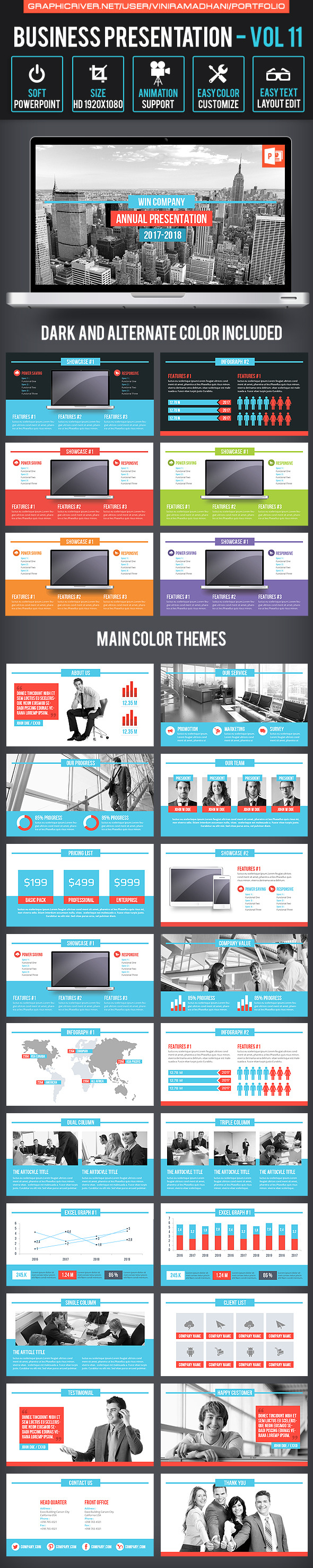 Business Presentation | Volume 11 - Business PowerPoint Templates