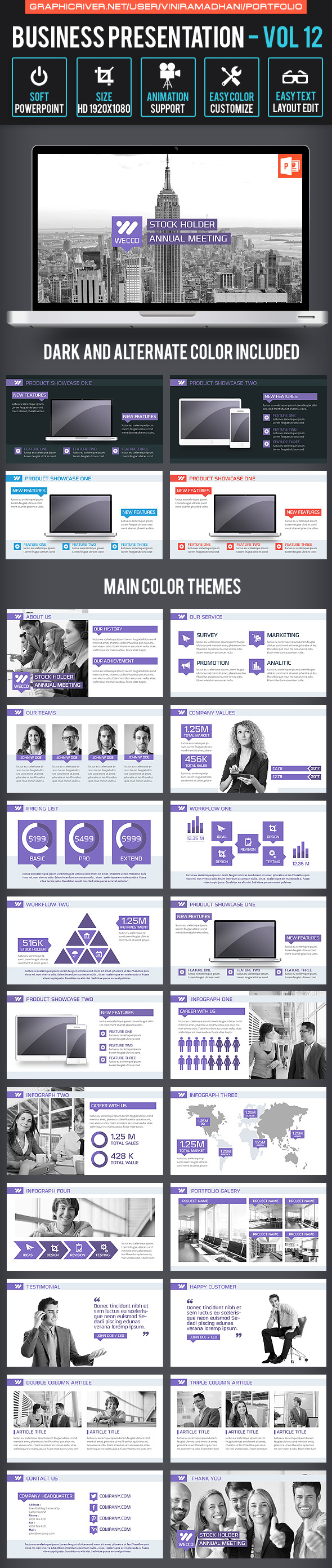 Business Presentation | Volume 12 - Business PowerPoint Templates
