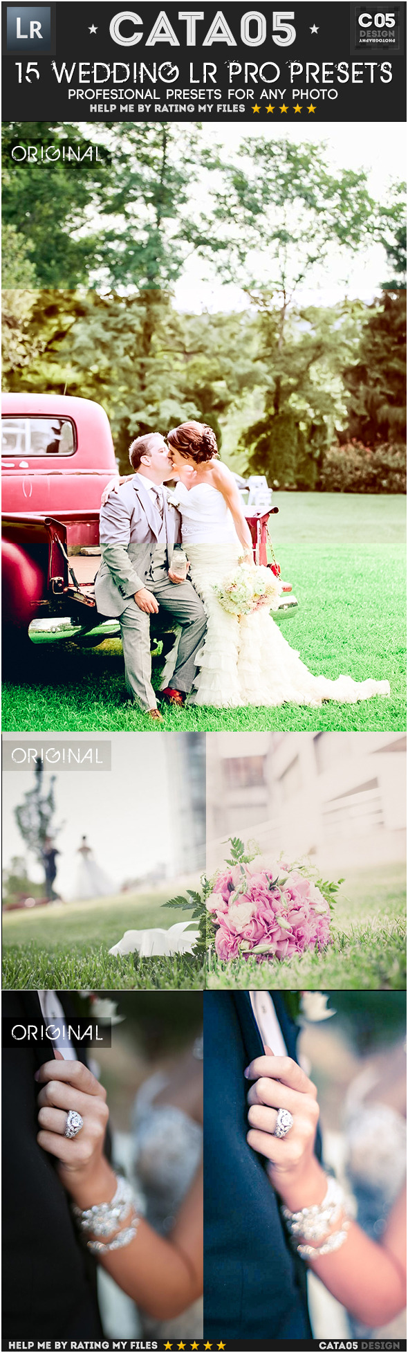 15 Wedding Pro Presets - Wedding Lightroom Presets