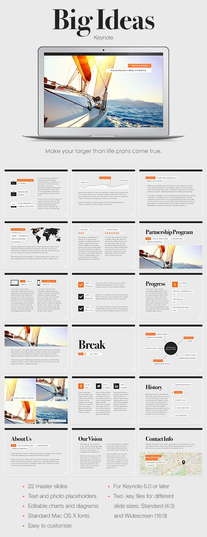 Big Ideas Keynote Template - Keynote Templates Presentation Templates