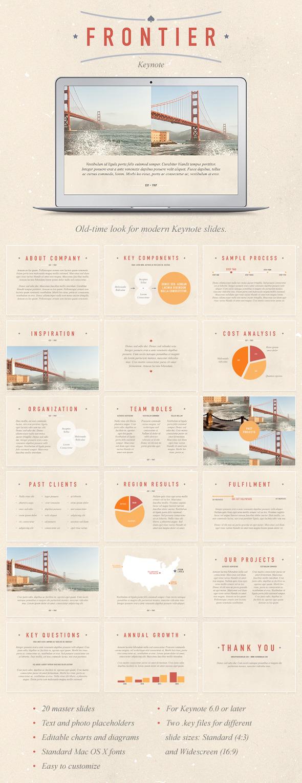 Frontier Keynote Template - Keynote Templates Presentation Templates