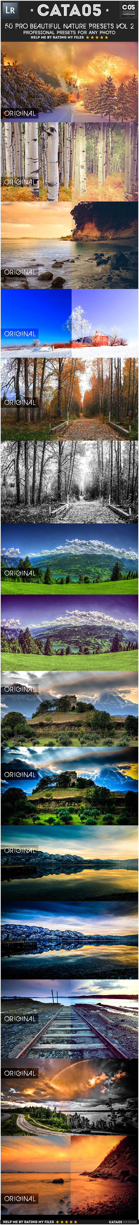 50 Pro Beautiful Nature Presets Vol 2 - Landscape Lightroom Presets