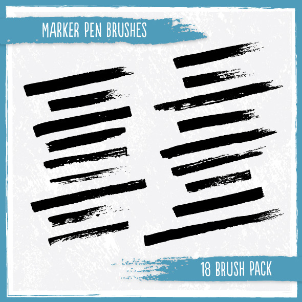 Marker Pen Brushes - Brushes Illustrator