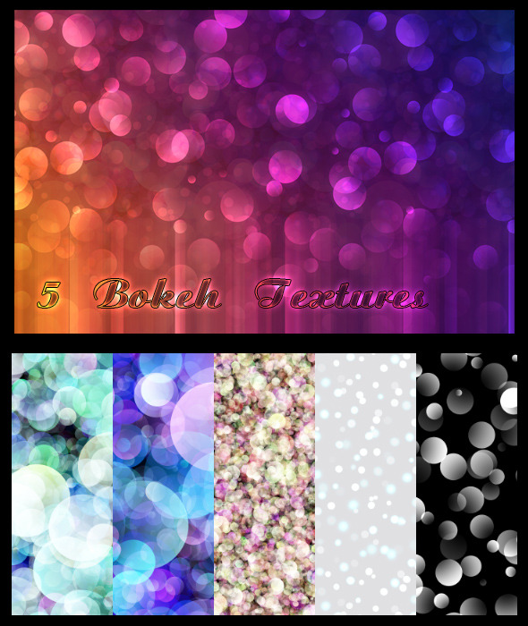 5 Bokeh Textures - Abstract Textures / Fills / Patterns