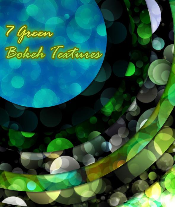 7 Green Bokeh Textures - Abstract Textures / Fills / Patterns