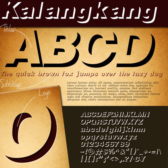 Kalangkang - Sans-Serif Fonts