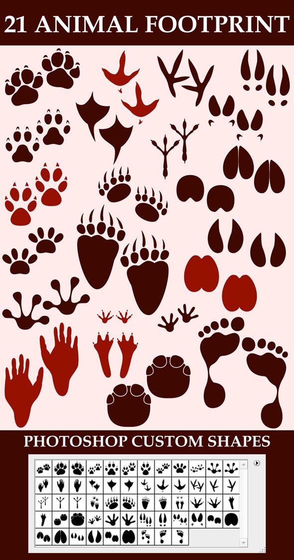 Animal Footprint Custom Shapes - Animals Shapes
