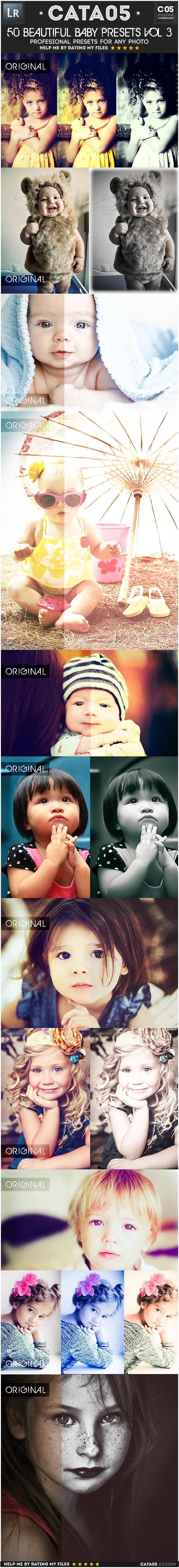 50 Beautiful Baby Presets Vol 3 - Portrait Lightroom Presets