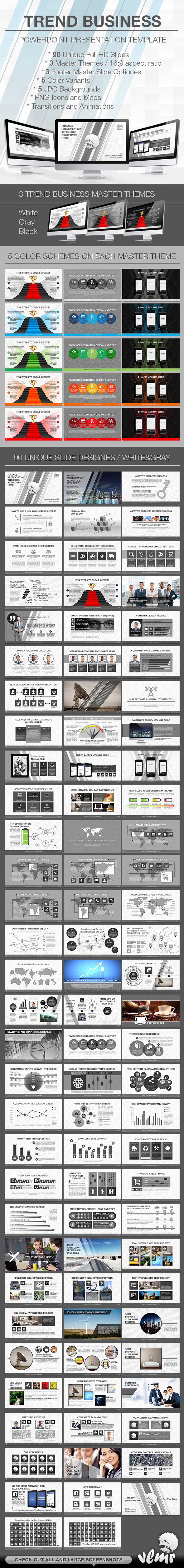 Trend Business PowerPoint Presentation Template - Creative PowerPoint Templates
