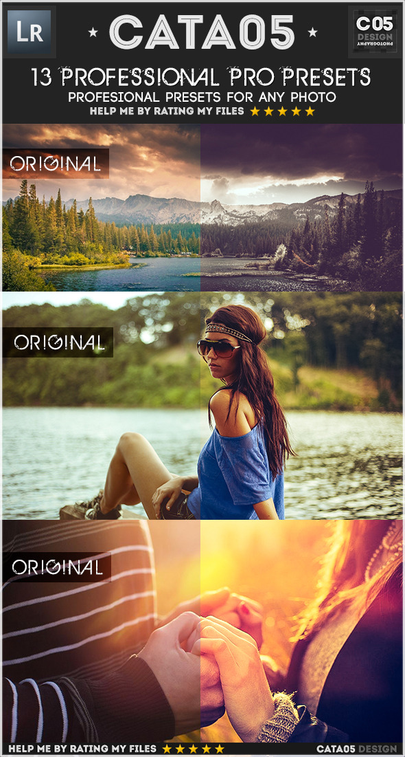 13 Professional Pro Presets - Portrait Lightroom Presets