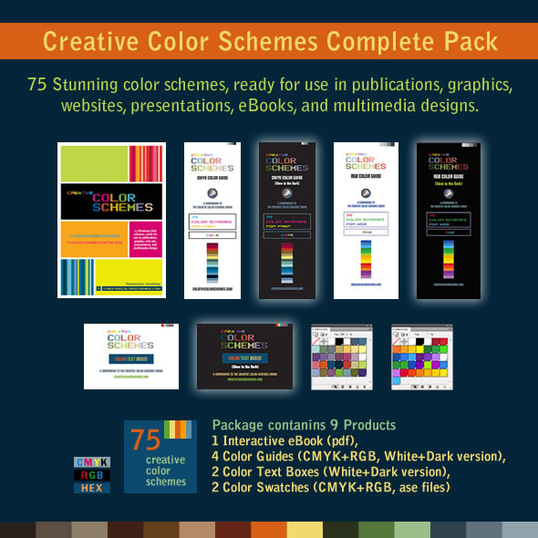 75 Color Schemes Swatches and Color Guides  - Illustrator Add-ons