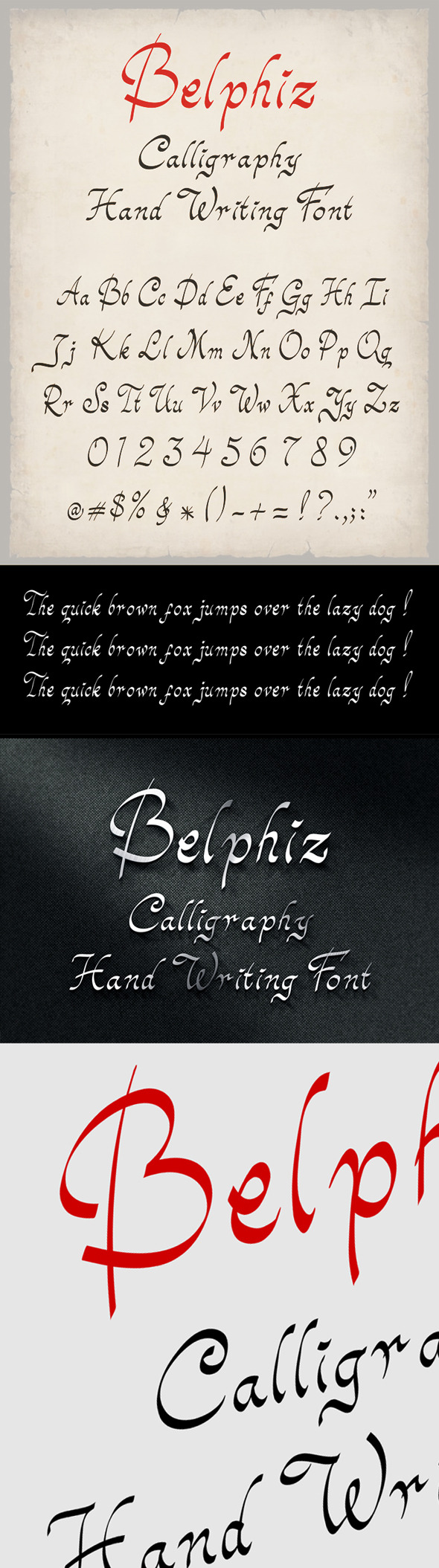 Belphiz Font - Hand-writing Script