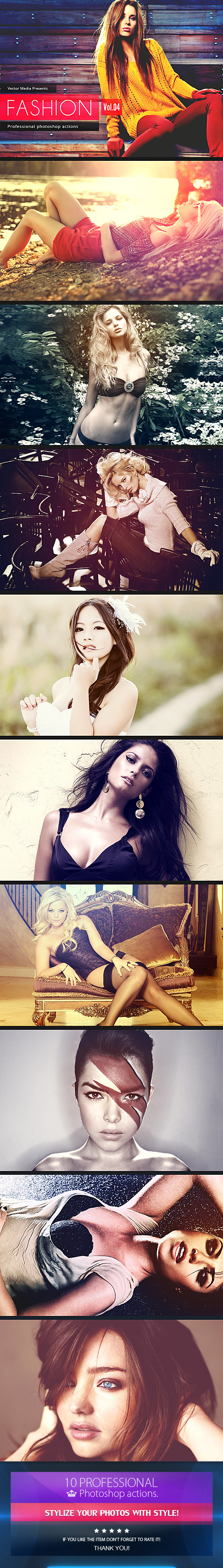 Fashion - Photoshop Actions [Vol.4] - Photo Effects Actions