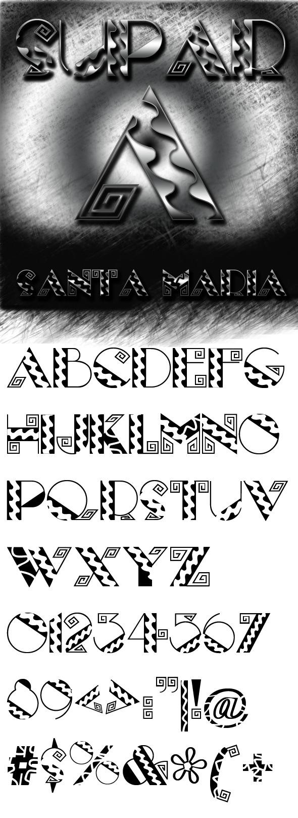 Santa Maria font - Decorative Fonts