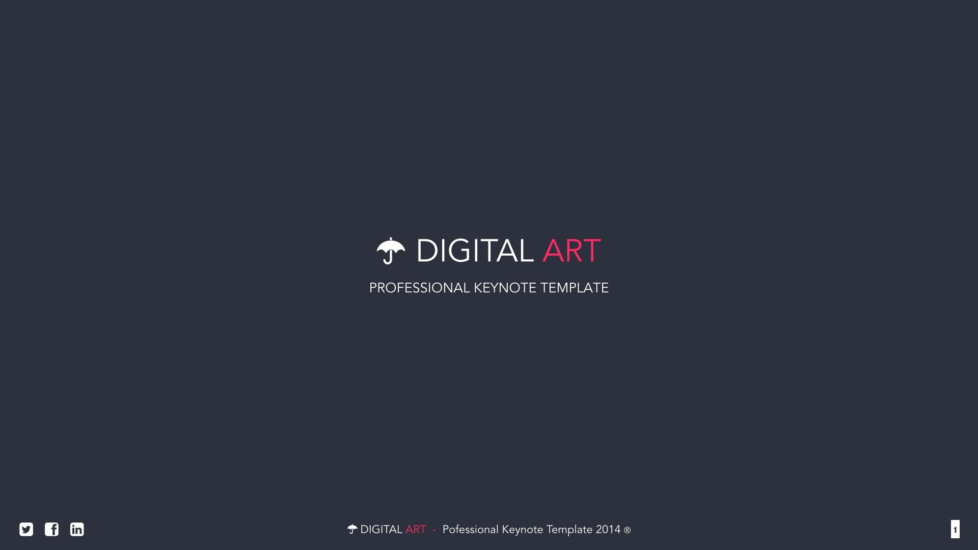 digital art - creative powerpoint templatevigitalart, Modern powerpoint