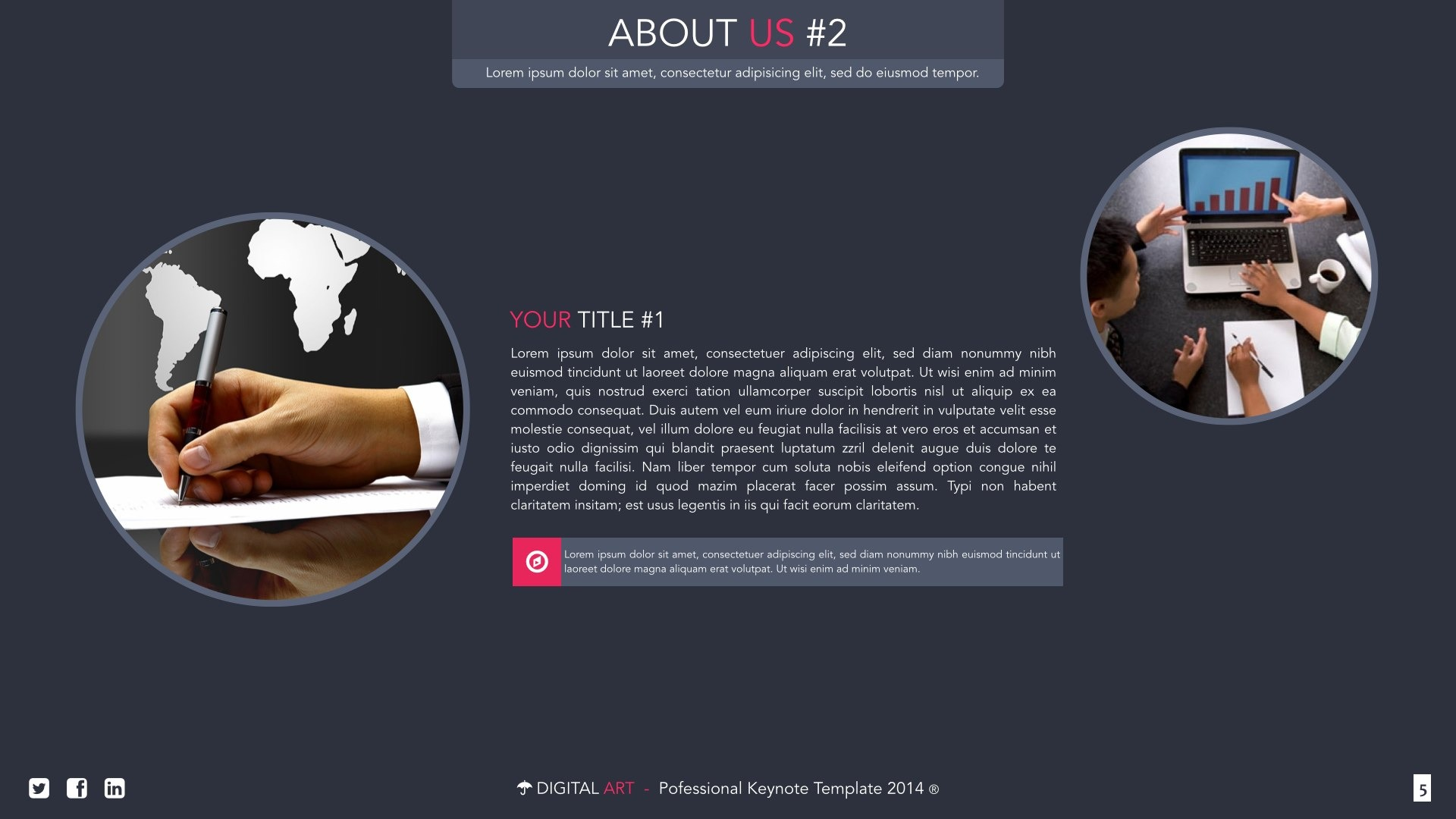 digital art creative powerpoint template