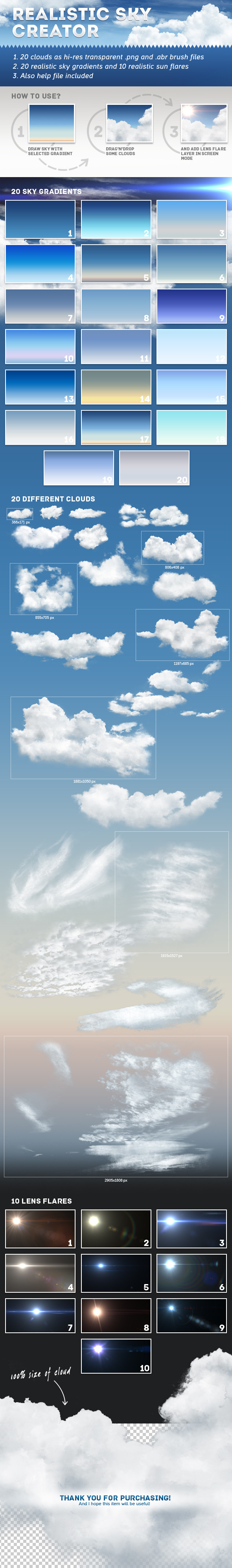 Realistic Sky Creator - Photoshop Add-ons