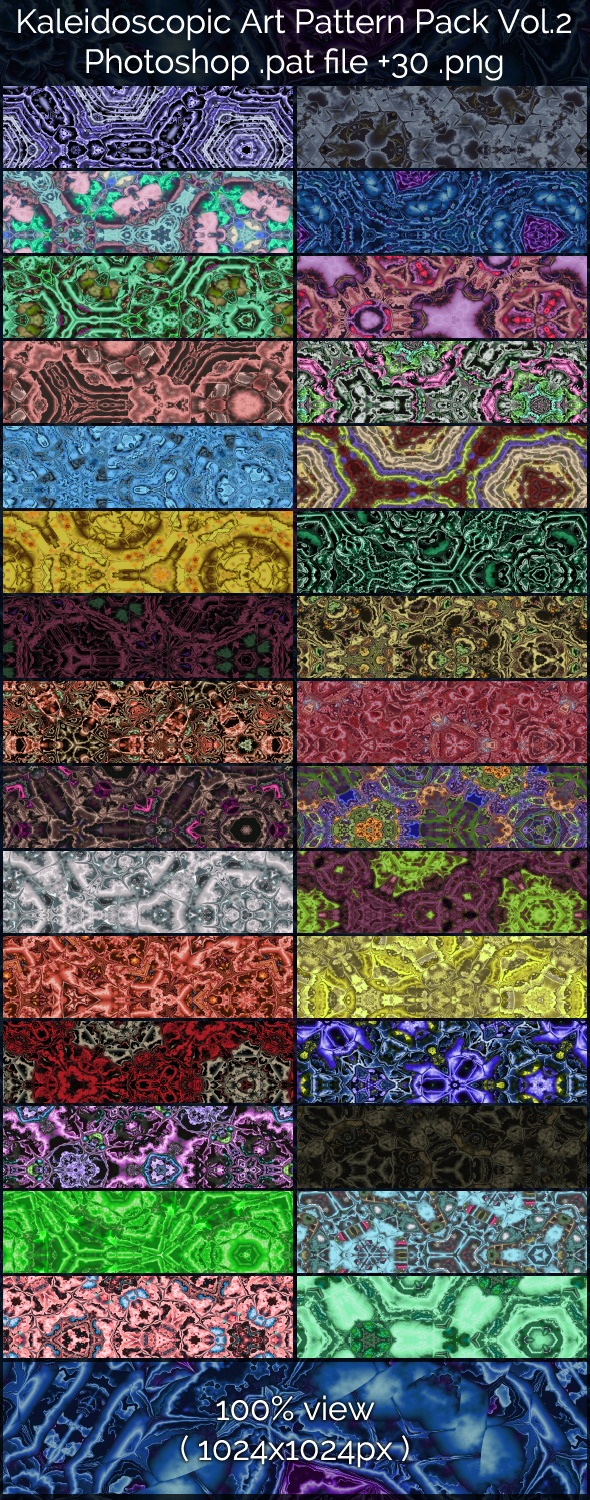 Kaleidoscopic Art Patterns 2 - Abstract Textures / Fills / Patterns
