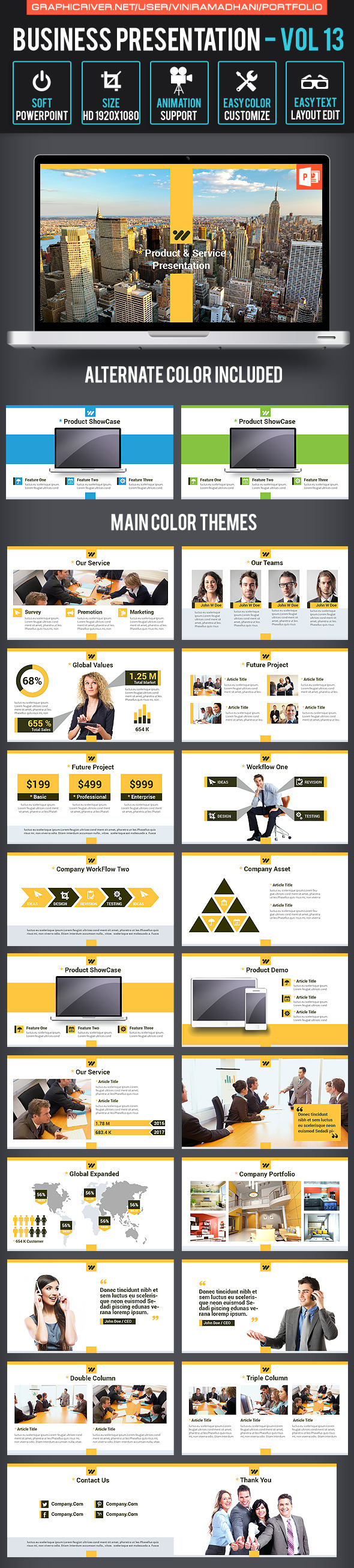 Business Presentation Volume 13 - Business PowerPoint Templates