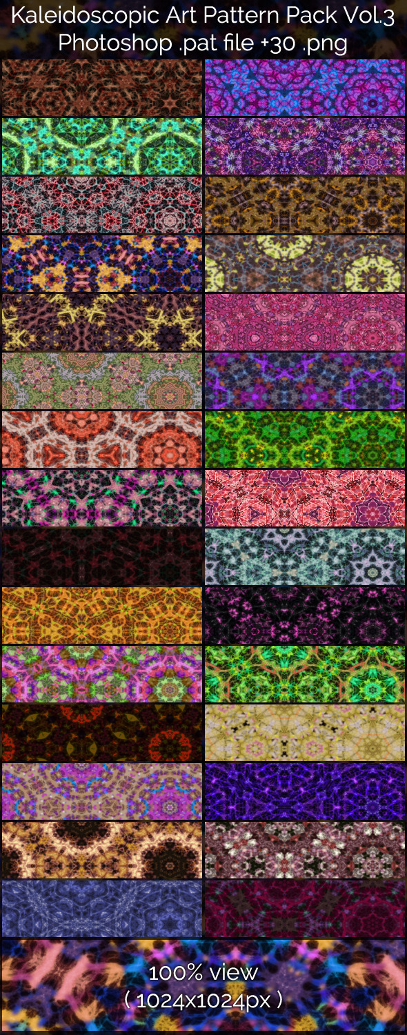 Kaleidoscopic Art Patterns 3 - Abstract Textures / Fills / Patterns