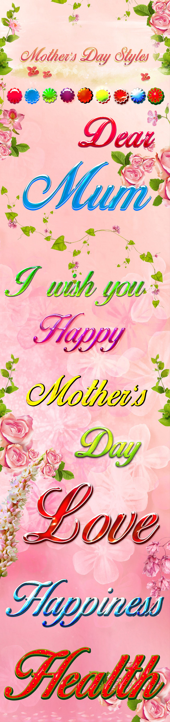 Mother's Day Styles - Text Effects Styles