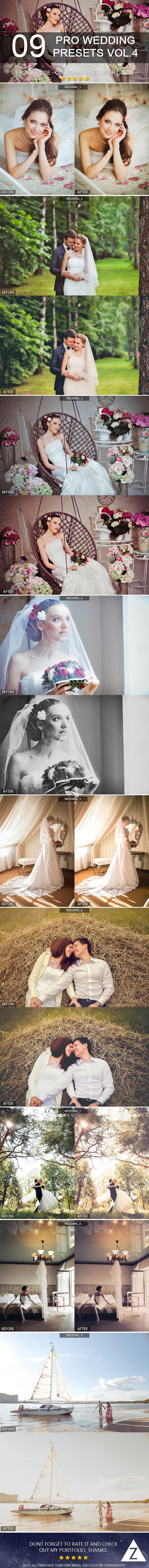 9 Pro Wedding Presets vol.4 - Wedding Lightroom Presets