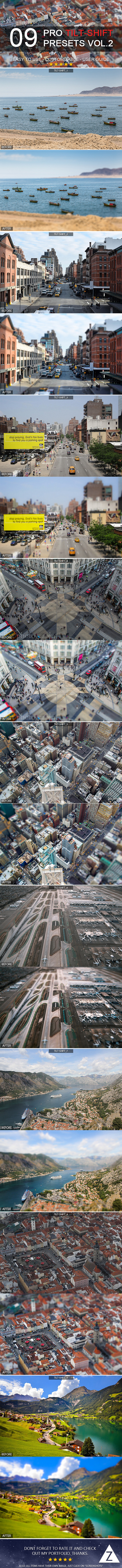 9 Pro Tilt-Shift Presets vol.2 - Landscape Lightroom Presets