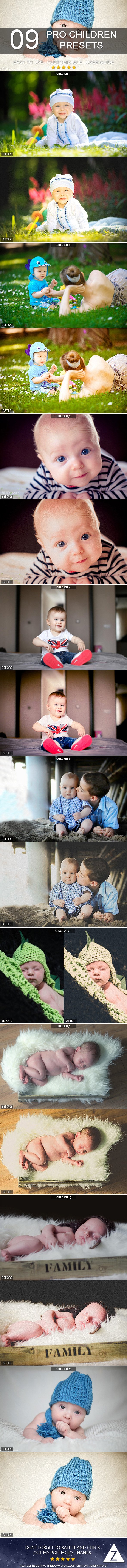 9 Pro Children Presets - Portrait Lightroom Presets