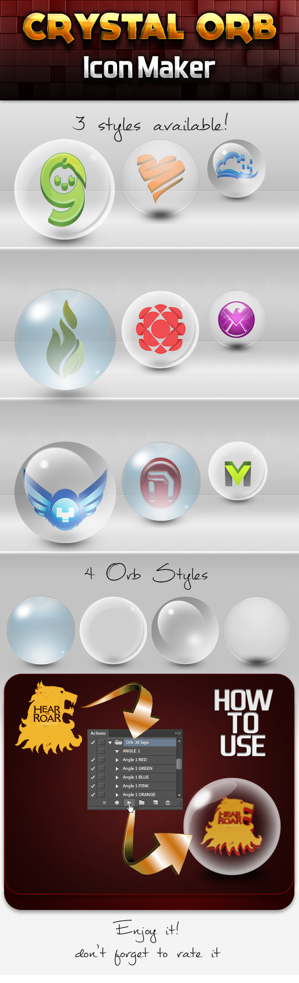 Crystal Orb 3d Icon Maker - Utilities Actions