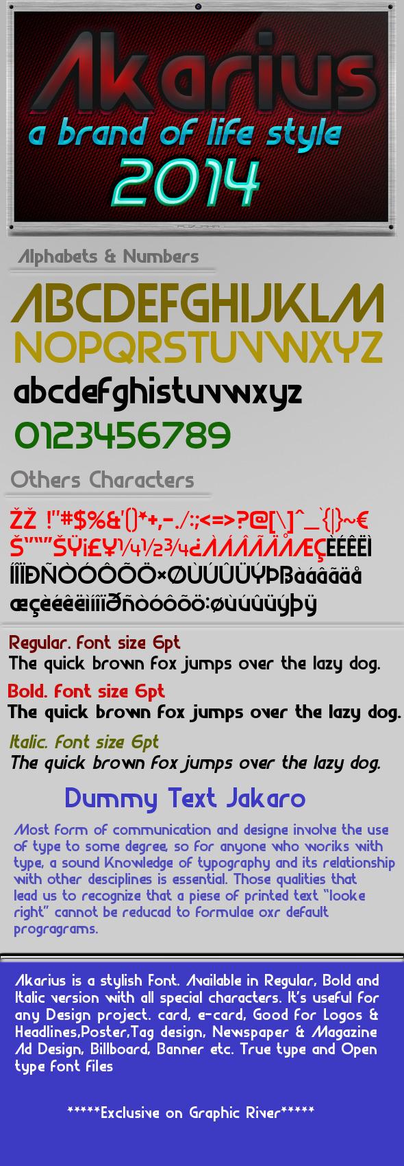 Akarius Font - Sans-Serif Fonts