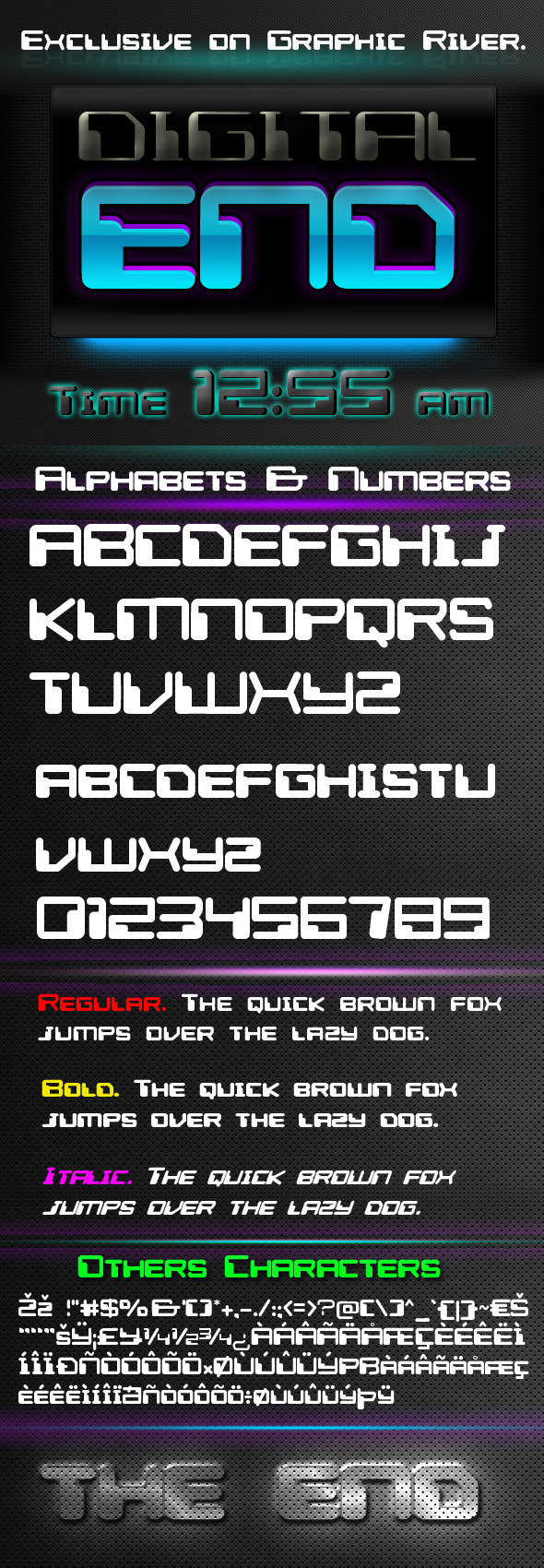 Digital End Font - Sans-Serif Fonts