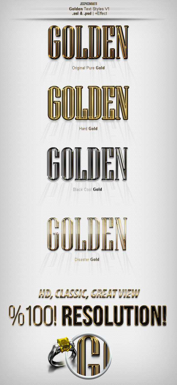 Golden Text Styles v1 - Text Effects Styles