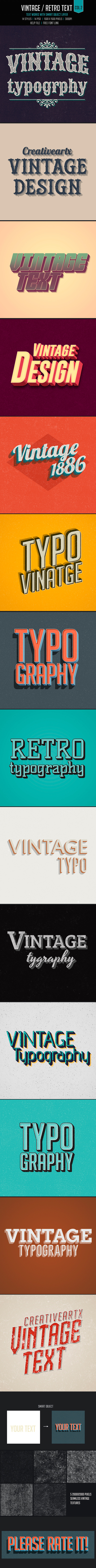 Vintage/Retro Text Col2 - Text Effects Actions