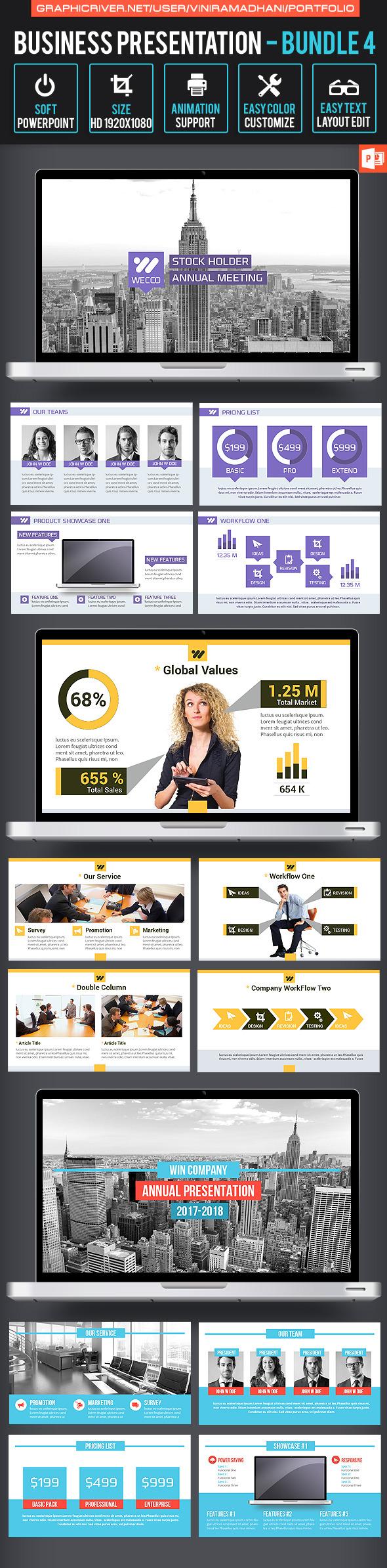 Business Presentation Bundle 4 - Business PowerPoint Templates
