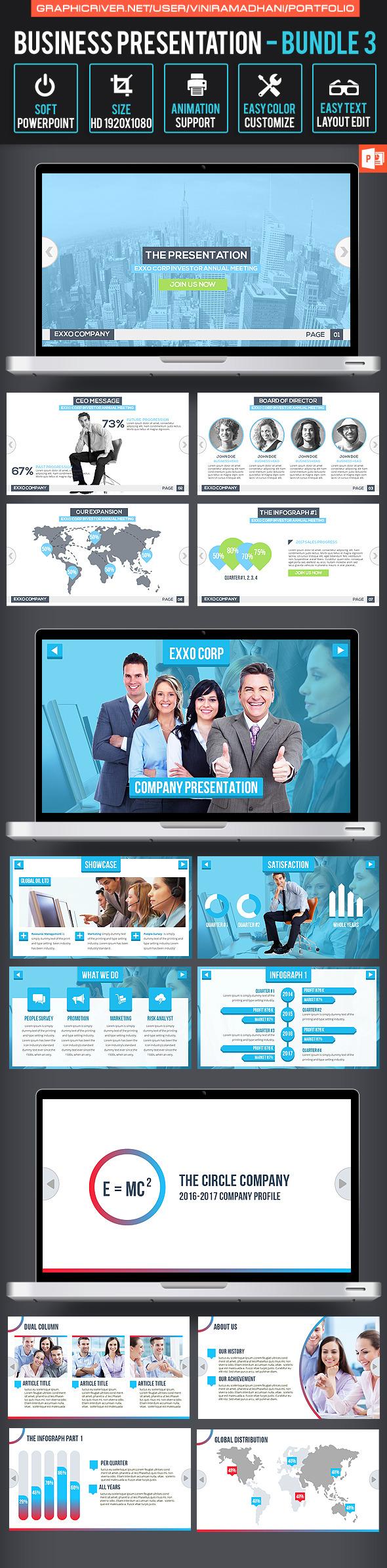 Business Presentation Bundle 3 - Business PowerPoint Templates