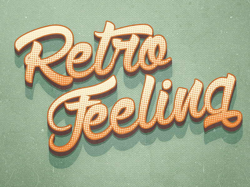 12 various 3d retro vintage text effects for photoshop