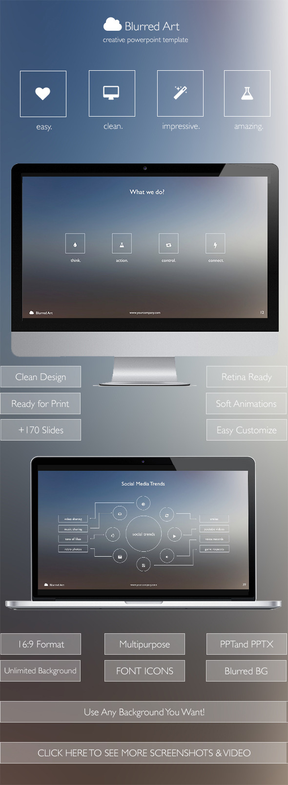 Blurred art creative powerpoint template by vigitalart graphicriver blurred art creative powerpoint template creative powerpoint templates toneelgroepblik Gallery