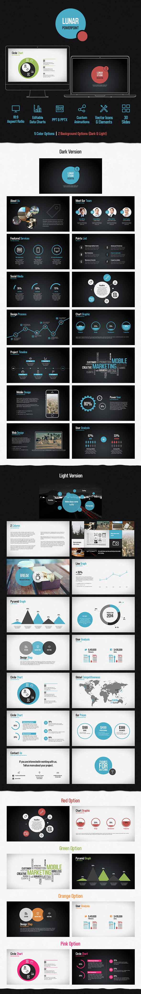 Lunar Powerpoint Presentation Template - Creative PowerPoint Templates
