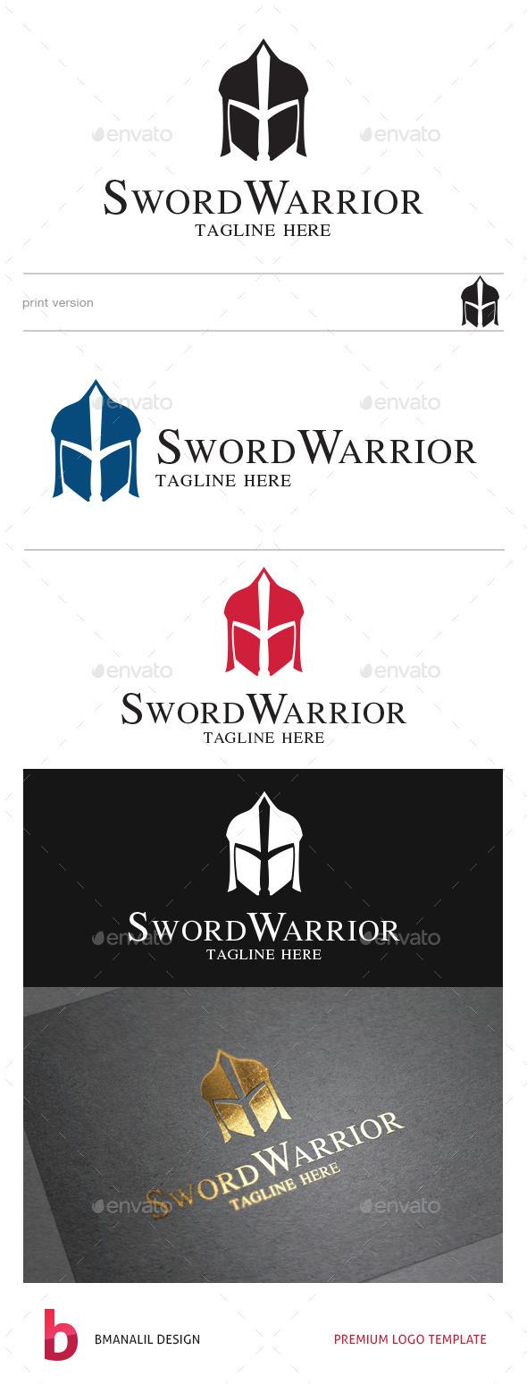 Sword Warrior Logo - Humans Logo Templates