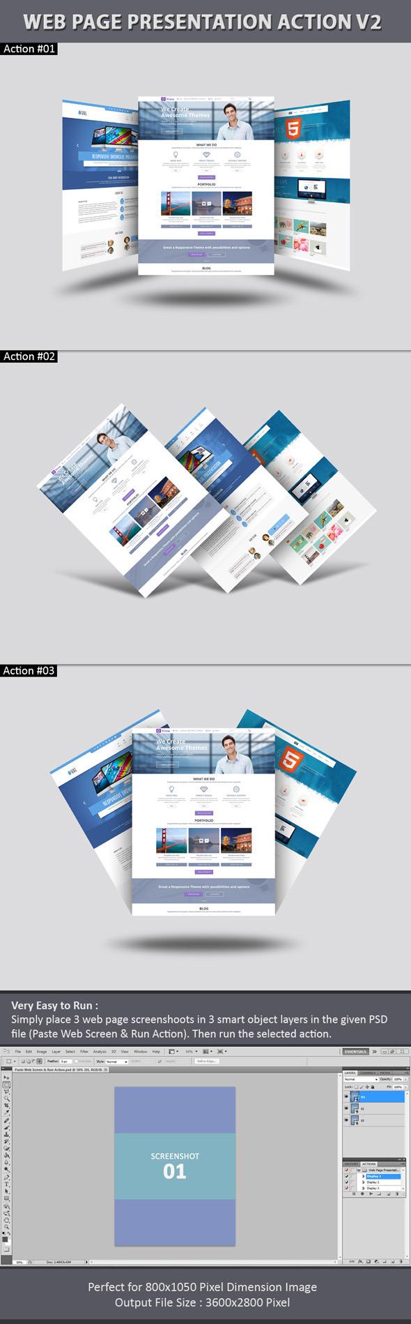 Web Page Presentation Action V2