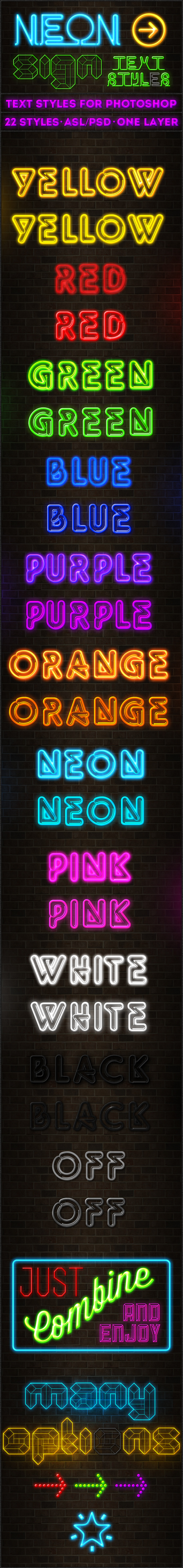 Neon Sign - Text Styles - Text Effects Styles
