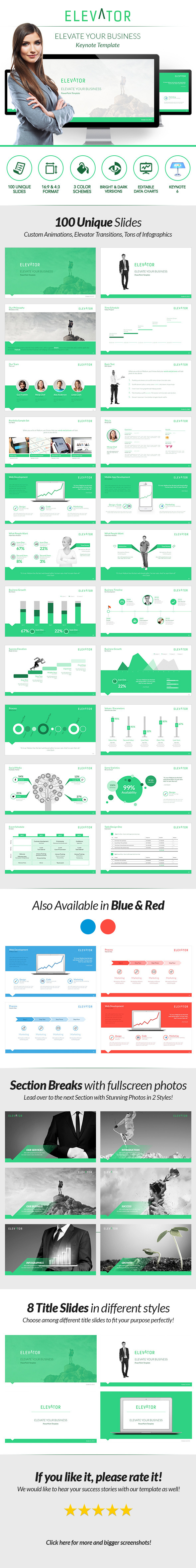 Elevator Keynote - Elevate Your Business - Keynote Templates Presentation Templates