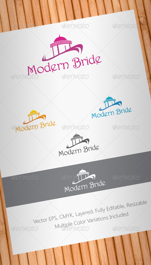 Modern Bride Logo Template - Buildings Logo Templates